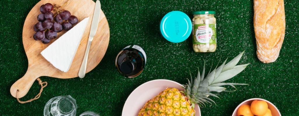 picnic saludable con alcachofas